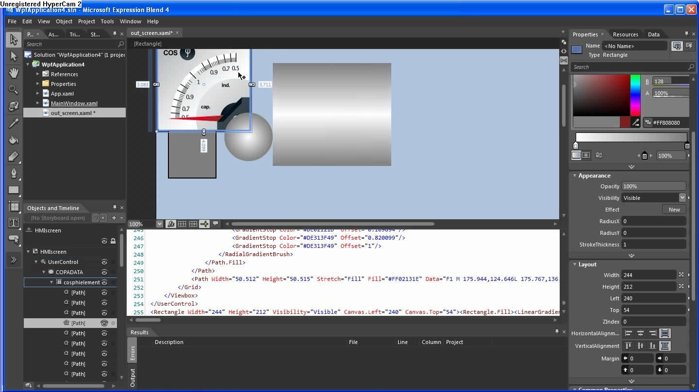 Добавление компонентов в графику на базе XAML